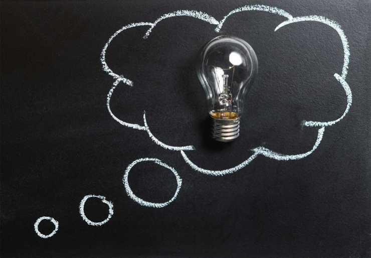 An idea lightbulb