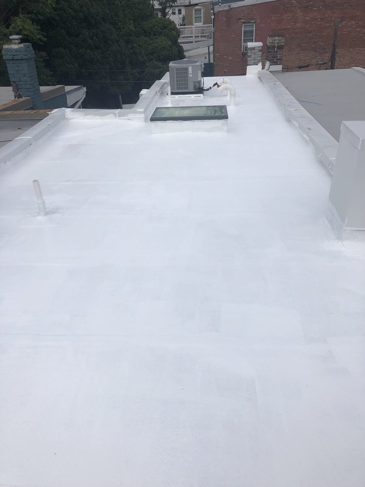 Coated roof white