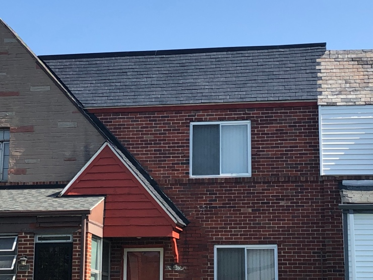 Finished slate roof replacement