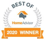 HomeAdvisor best of 2020 award