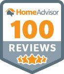 100 reviews on HomeAdvisor