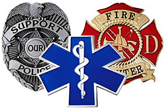 First responders badges